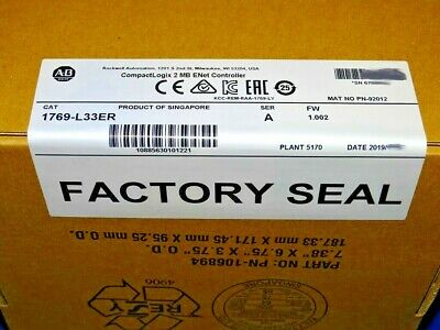 2019 Factory Sealed Allen Bradley 1769-l33er A Compactlogix 2mb Processor