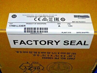 2019 Factory Sealed Allen Bradley 1769-l33er A Compactlogix 2mb Processor