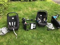 FREE: Two Britax car sets including isofix bases & waterproof covers