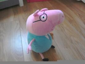 Selection of peppa pig plush toys
