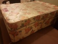 Silent Night Double Divan bed with mattress and 4 drawers