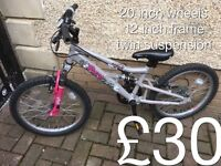 "Smaller size Mountain Bikes suits 4""6 to 5""4 - £25 - £50 Boys or girls male or female"