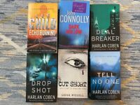 Books from Connolly, Coben, Child Russell.