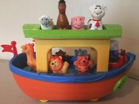 Shape sorter boat, month old.
