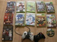 XBOX 360 games x 9 plus 2 x controllers 3 x Sega PC games £15 the lot