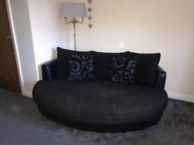 Black 3 seat snuggle sofa