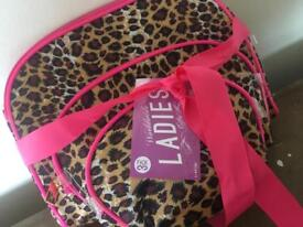 3 leopard makeup bags /storage bags