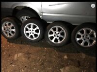 """ASTRA 15"""" ALLOYS WHEELS WITH VERY GOOD TYRES"""