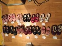Baby shoes mainly clarks sizes on pics