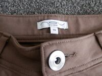 Ladies size 10 New Look brown jeggings in great condition.