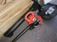 Leaf blower & vac, Black & Decker GW 2200, as new.