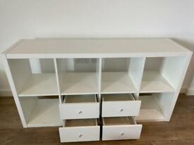IKEA Kallax 4x2 units + drawers (white)
