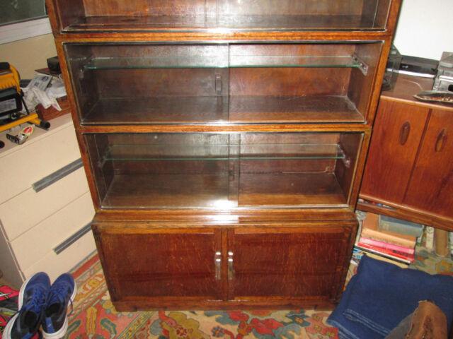 Minty type Bookshelves, Oak Glass & Chrome, cupboard under