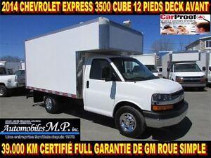 2014 Chevrolet Express 3500 CUBE 12 PIEDS DECK 39.000 KM 1 SEUL1