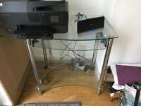 Glass Study Computer Table