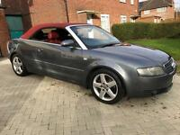 2004 Audi A4 1.8T Convertible+FSH+HPI CLEAR+RED ROOF+LEATHERS+PX+SWAP
