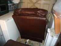g plan dark brown reclining two seater settee