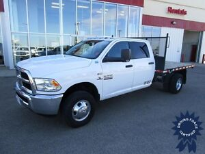 2015 Ram 3500HD SLT Crew Cab 4X4 DRW w/9' Deck & Fifth Whl Hitch