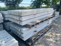 New Concrete Reinforced Fencing Posts
