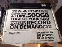 Sky + HD Box with remote control