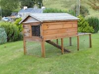 Outdoor Rabbit Hutch with Run