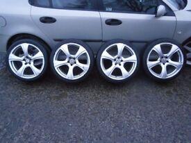 18in 5x100 Alloy wheels ( mk4 golf bora )