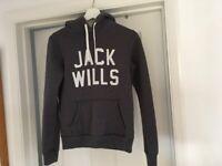 Jack Wills Ladies Grey Hoodie size 8 vgc