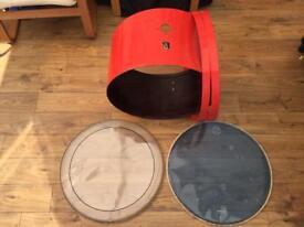 Hayman 24x14 Bass Drum Shell & Hoops restored by Eddie Ryan - For Sale or Trades
