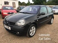 Renault Clio 1.2 Petrol 3 Door Hatch, Low Mileage Only 62,000 Miles, Drives Superb, Cheap Insurance.