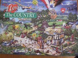 MIKE JUPP'S 1000 PIECE JIGSAW PUZZLE 'I LOVE THE COUNTRY' GIBSON'S PUZZLES OPENED