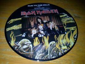 IRON MAIDEN. 45 RPM VINYL. 1982. Pictured.
