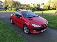 Peugeot 206 cc convertible hard top one year mot very good condition