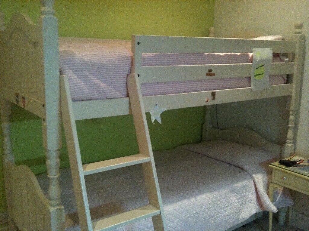 Bunk Beds With Third Pull Out Bed White Aspace In Clapham