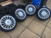 "17"" MG alloy wheels & Tyres"