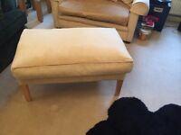 Velvet footstool/occasional seating