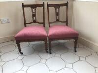Pair of Victorian Nursing Chairs Very Pretty
