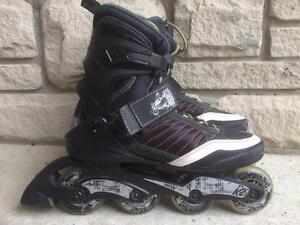 Like NEW K2 Men's Inline Skates 80mm/80A Wheels Size 10