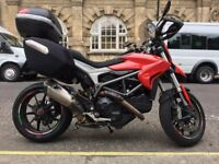 Ducati Hyperstrada 821 - Termignoni carbon and titanium exhaust - just had desmodronic service
