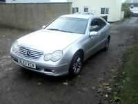 MERCEDES C180 KOMPRESSOR SE COUPE PETROL 1.8LTR 6 SPEED MANUAL 2003