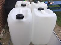 4 x 25litre water butts
