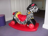 Little Tikes rock and scoot Zebra