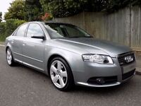 Audi A4 2.0 TDI S Line 4dr (CVT) SAT NAV. CAM BELT REPLACED! 2008