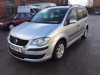 08 Plate - VW Touran s - Tdi 105 - 09 months mot - hpi clear - 7 seater - new shape