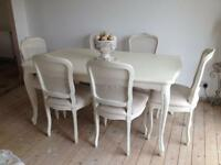 Laura Ashley Provencale table and 6 chairs.