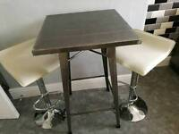 Bar Table and Cream Stools