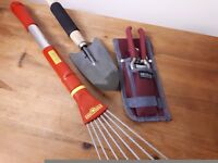 Wolf Garden small rake and Briers secateurs