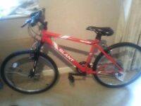 boys mountain bike red been used 2 times girls tinker bell bike