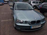 BMW 316I TI COMPACT 3 DR GREEN 2003 REG