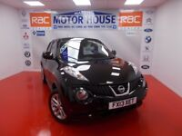 Nissan Juke ACENTA PREMIUM (SAT NAV) FREE MOT'S AS LONG AS YOU OWN THE CAR!!! (black) 2013