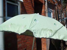 Large Garden Patio Parasol, Good Condition (no base)